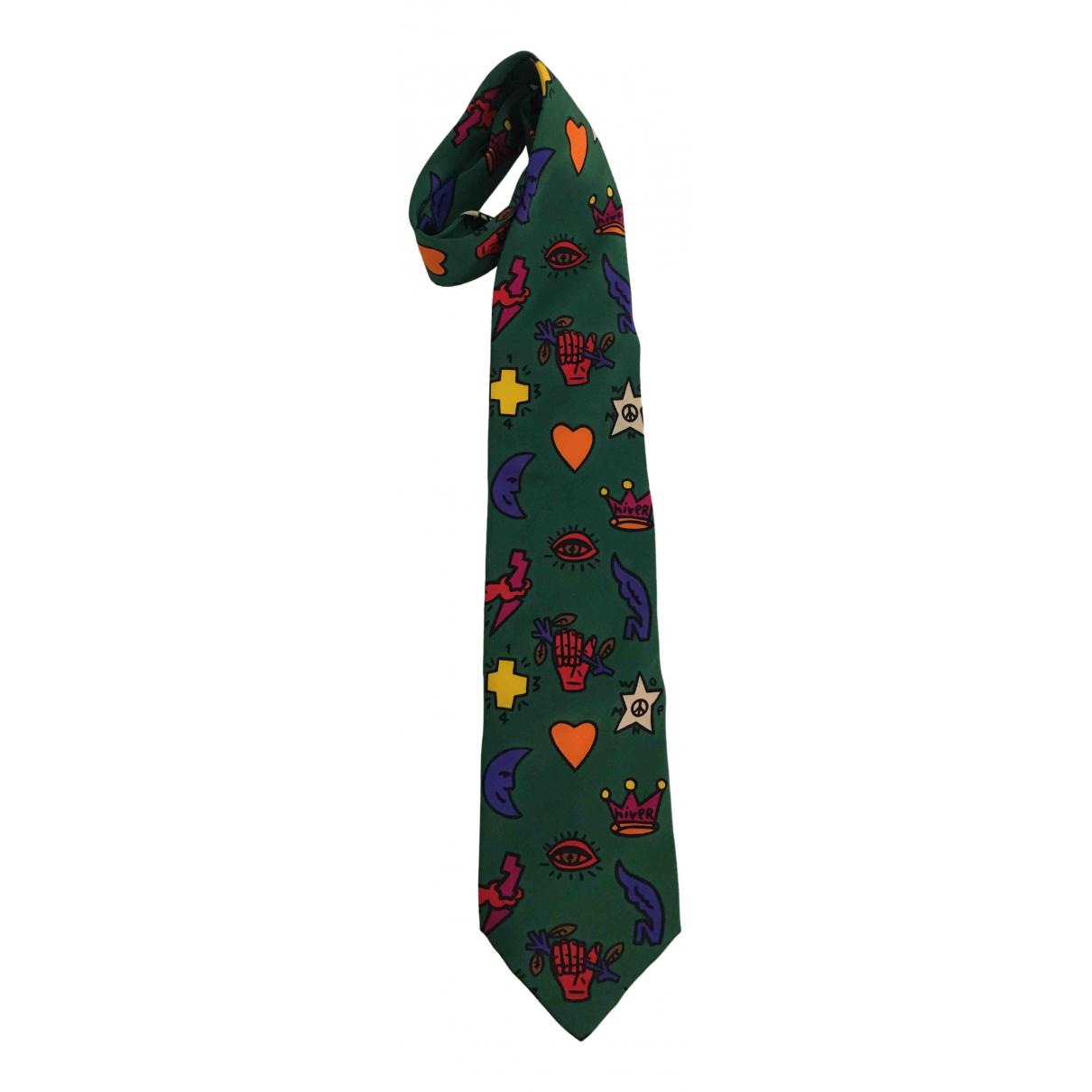 Jc De Castelbajac \N Krawatten in  Gruen Seide