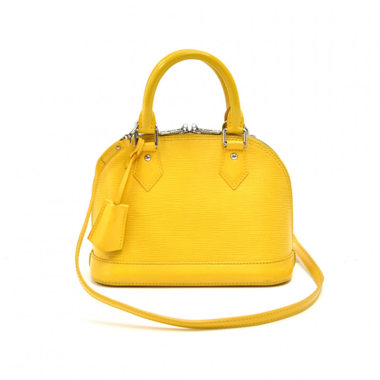 Louis Vuitton - Sac a main Alma pour femme en cuir - jaune
