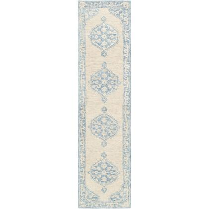 Granada GND-2306 26 x 10 Runner Traditional Rug in Pale Blue  Beige  Sky