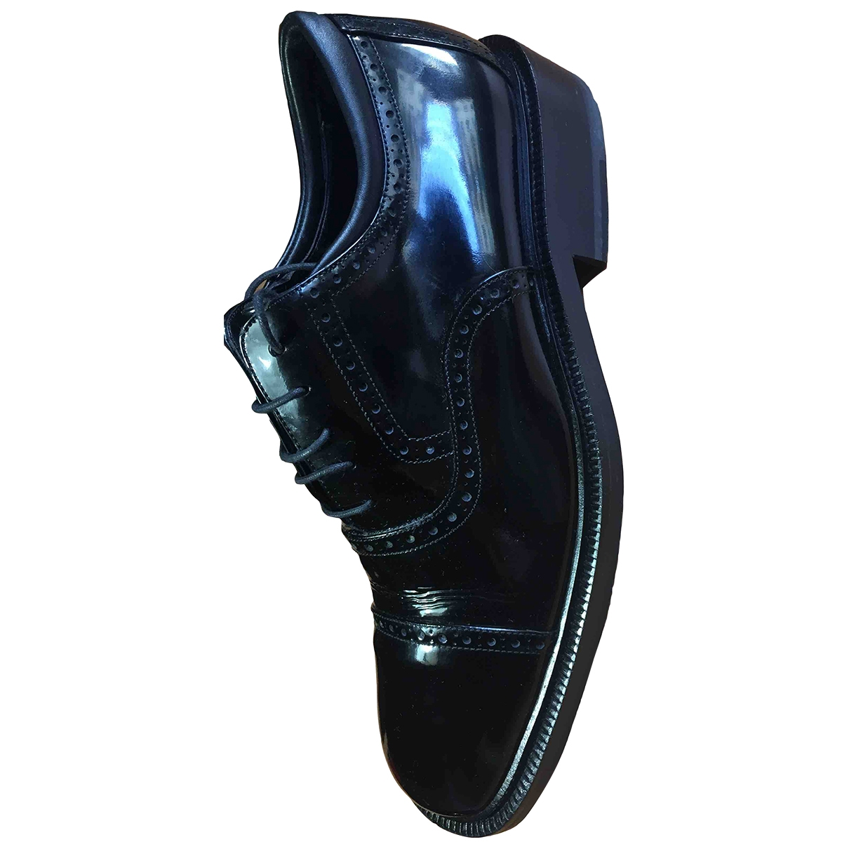 Gucci \N Black Patent leather Lace ups for Men 41.5 IT