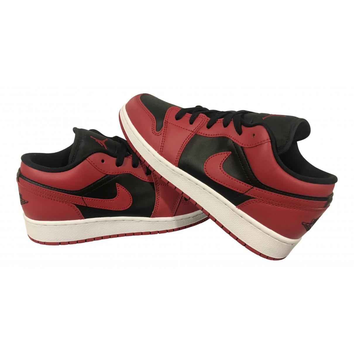 Jordan - Baskets Air Jordan 1  pour enfant en cuir - rouge
