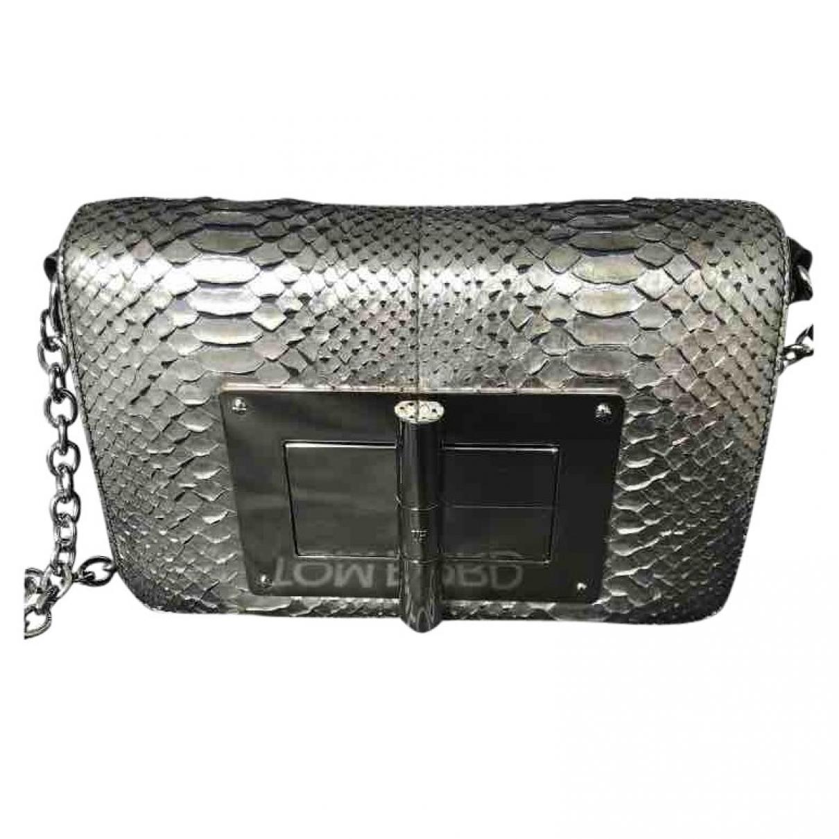 Tom Ford Natalia Silver Python handbag for Women \N