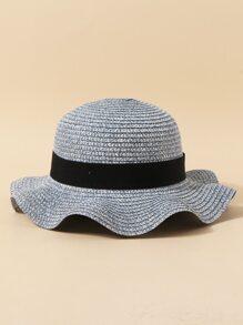 Toddler Girls Bow Decor Straw Hat