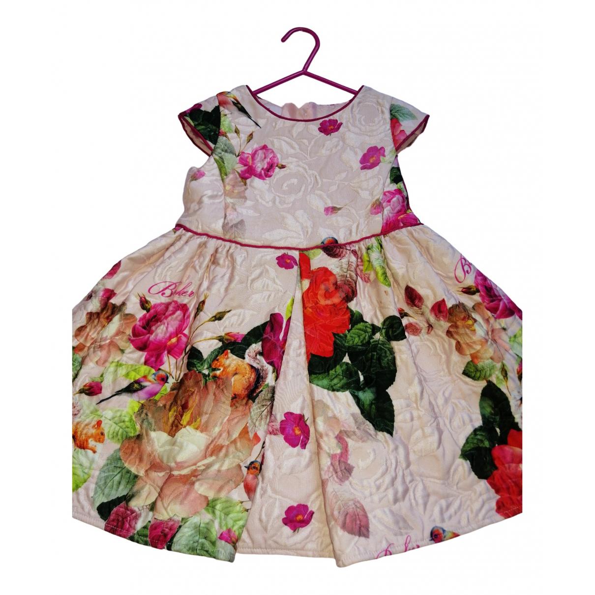 Ted Baker - Robe    pour enfant en coton - multicolore