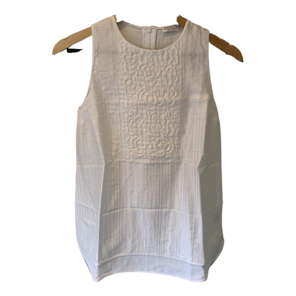 Brunello Cucinelli N White Silk  top for Women S International