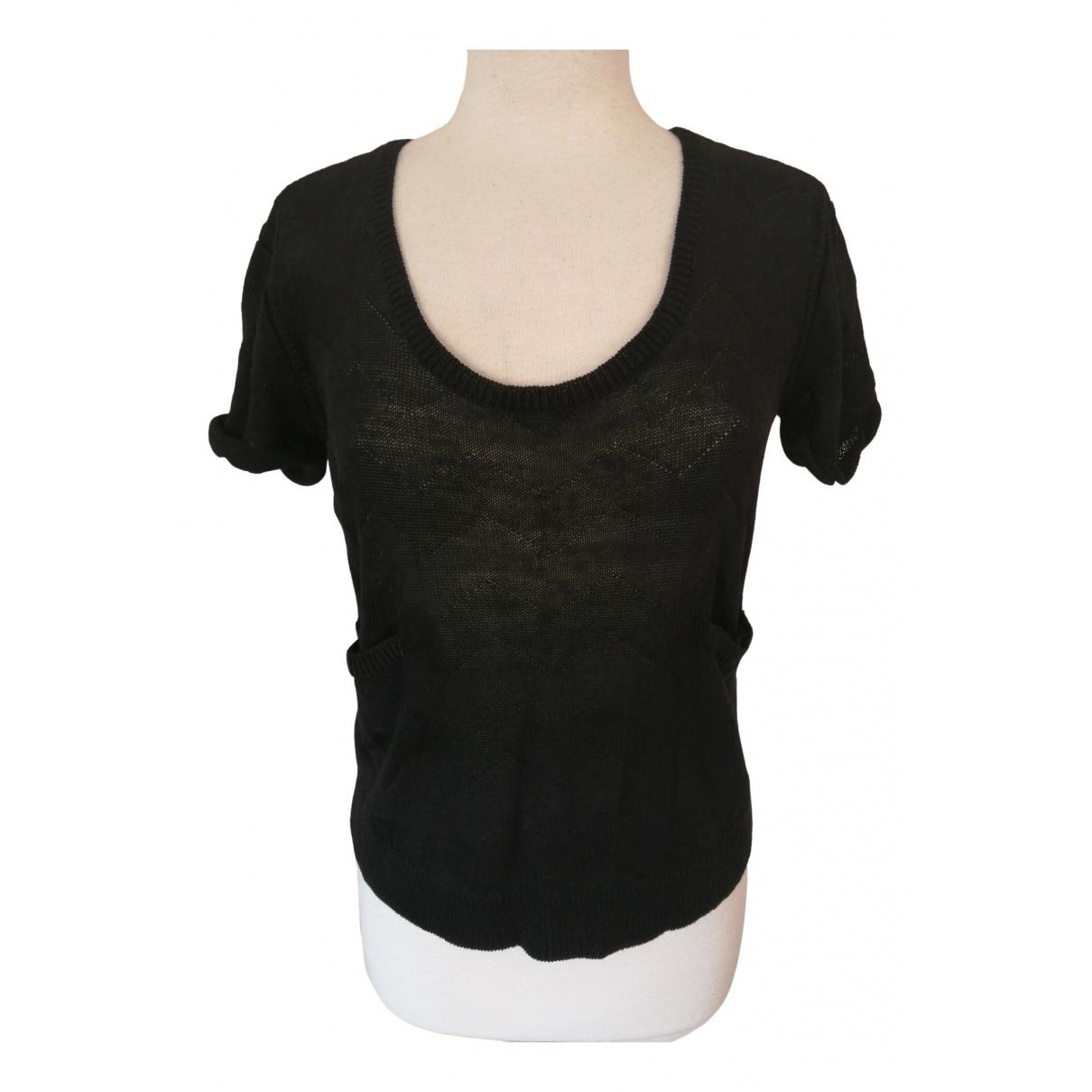 7 For All Mankind \N Black Linen Knitwear for Women M International