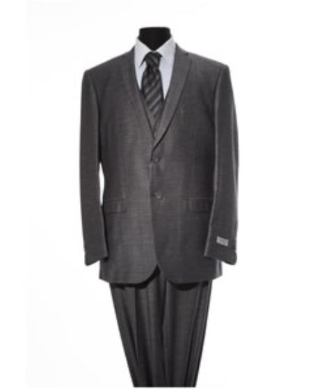 Mens Black 2 Button 2 Piece Suit