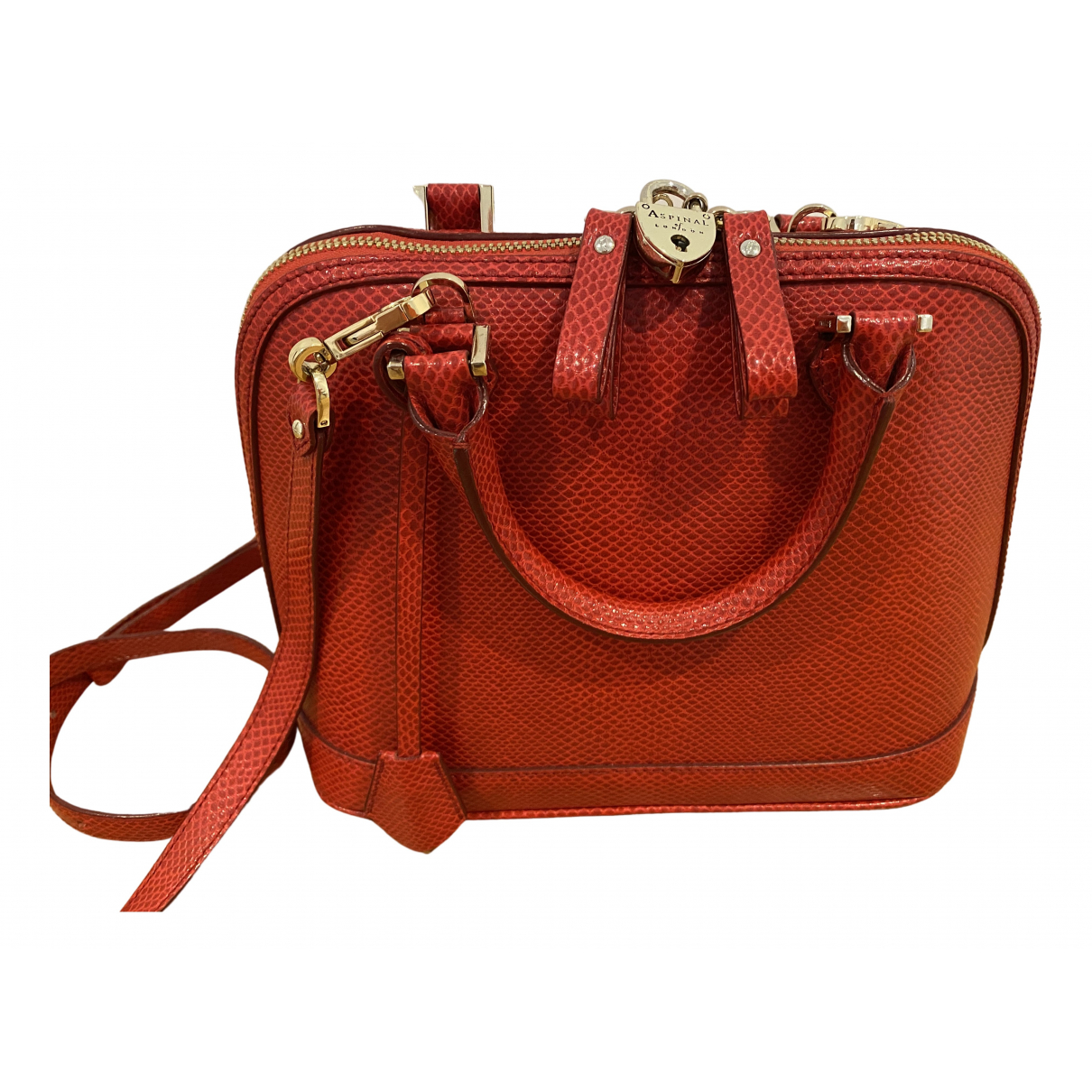 Aspinal Of London \N Red Leather handbag for Women \N