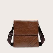Men Minimalist Flap Crossbody Bag