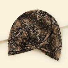 Turban Hut mit Schlangenleder Muster
