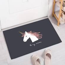Bodenmatte mit Einhorn Muster