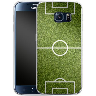 Samsung Galaxy S6 Silikon Handyhuelle - Soccer Field von caseable Designs