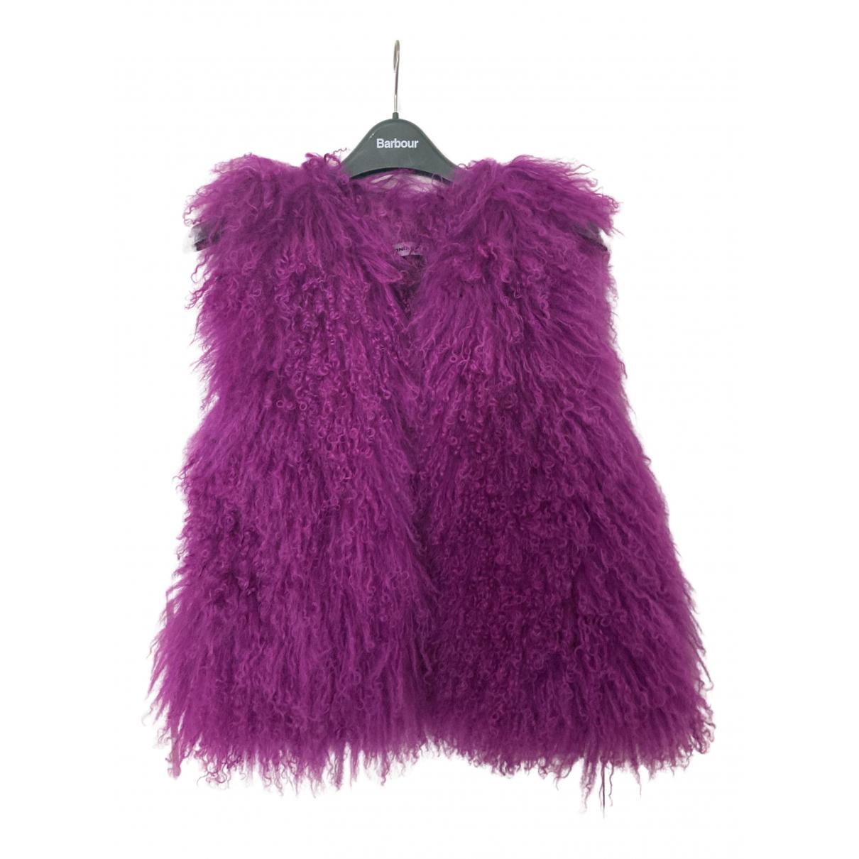 Sonia Rykiel - Veste   pour femme en agneau de mongolie - violet