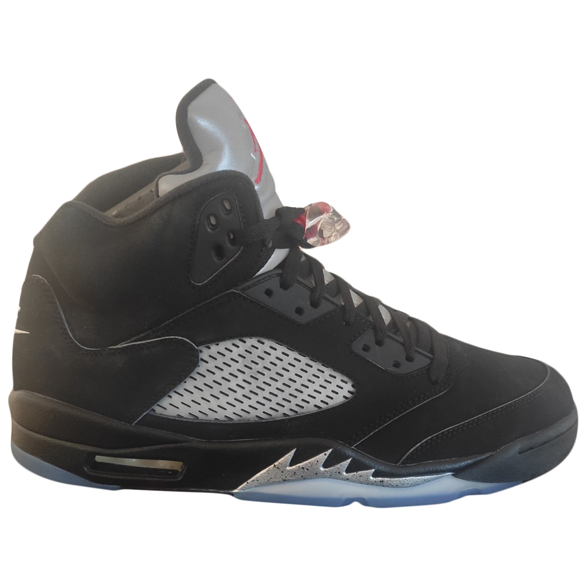 Jordan Air Jordan 5 Black Leather Trainers for Men 13 US