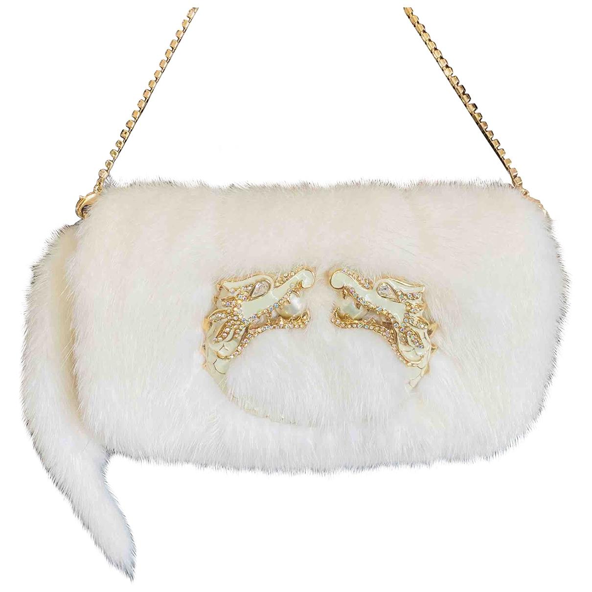 Gucci - Pochette   pour femme en vison - blanc