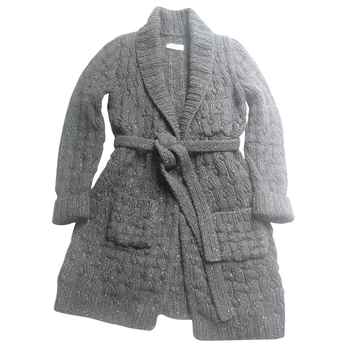 Mm6 - Pull   pour femme en laine - anthracite
