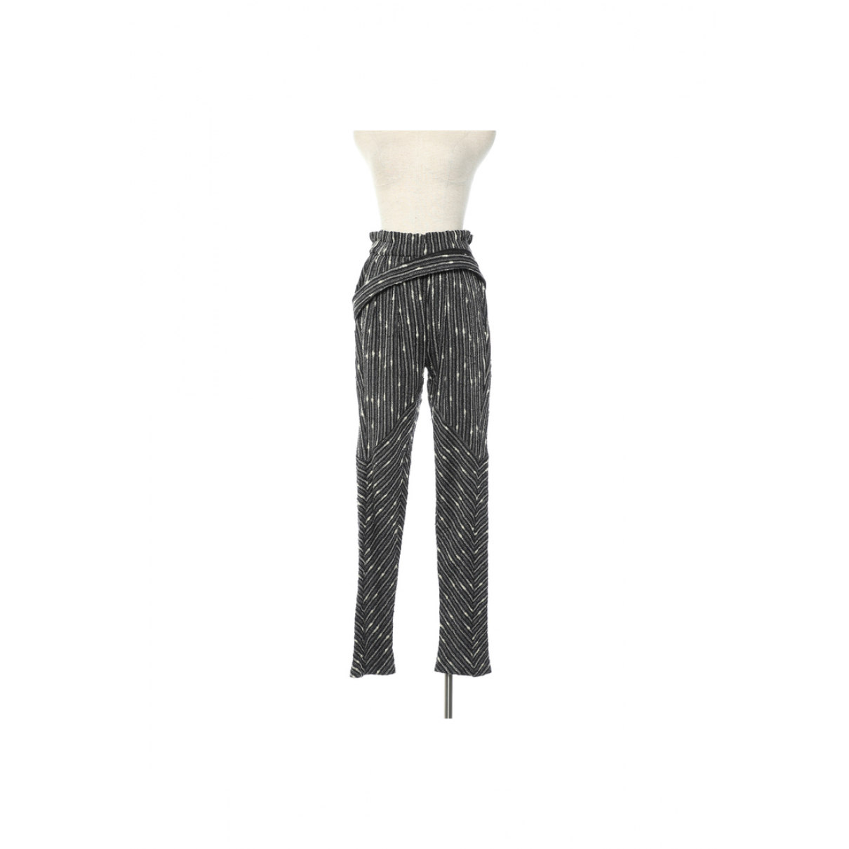 Isabel Marant \N Multicolour Wool Trousers for Women 0 0-5