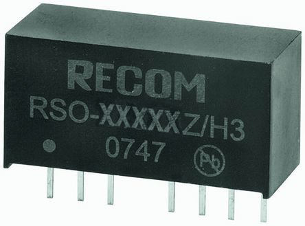 Recom RSO 1W Isolated DC-DC Converter Through Hole, Voltage in 4.5 → 18 V dc, Voltage out 15V dc
