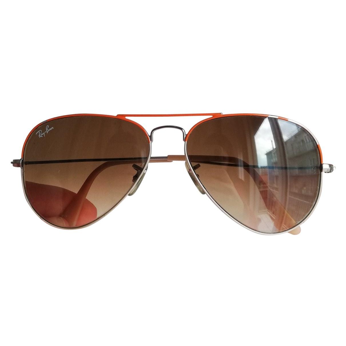 Ray-ban Aviator Orange Metal Sunglasses for Women N