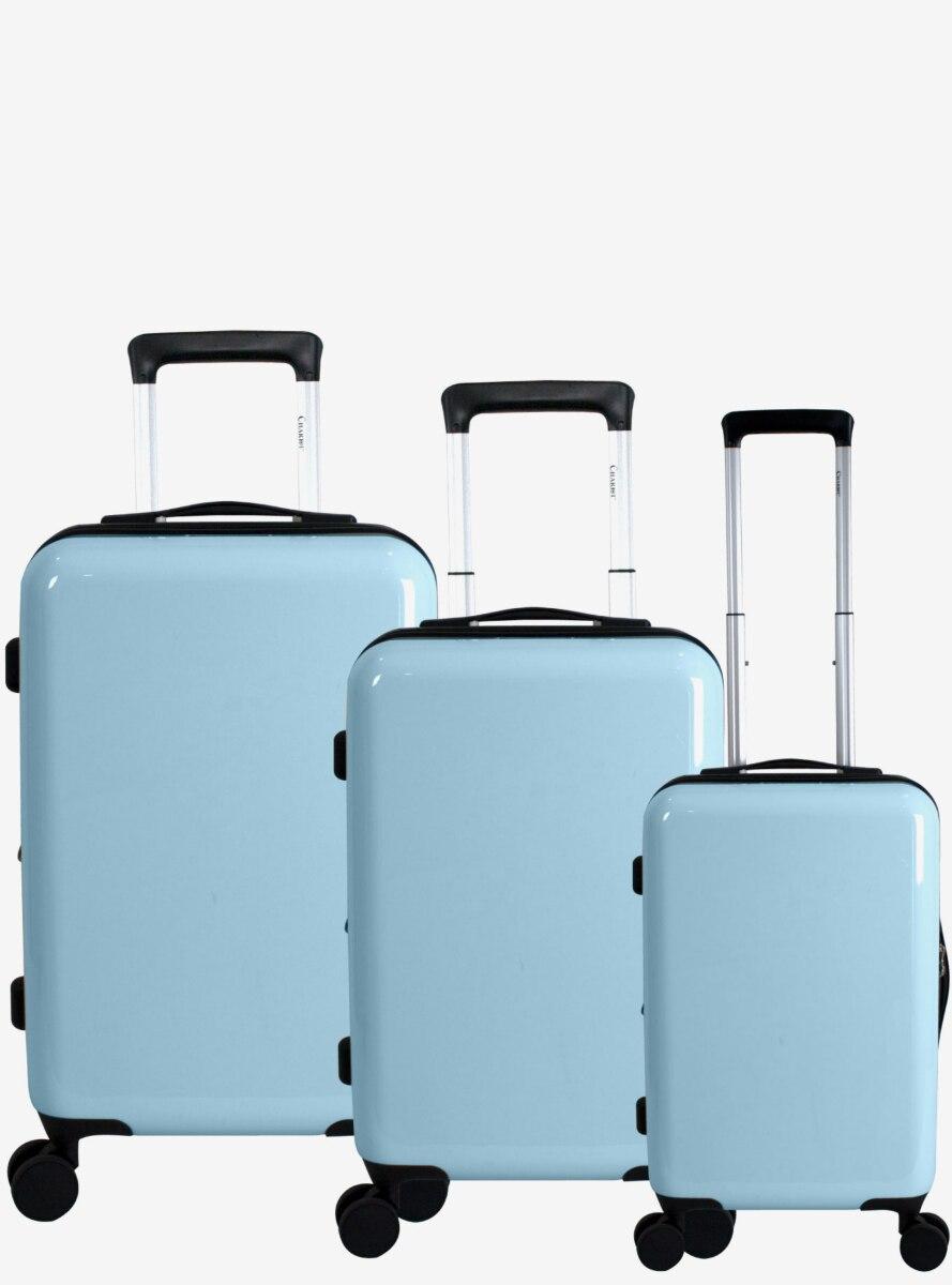 Blank Slate Hard Sided 3 Pc Aquamarine Luggage Set
