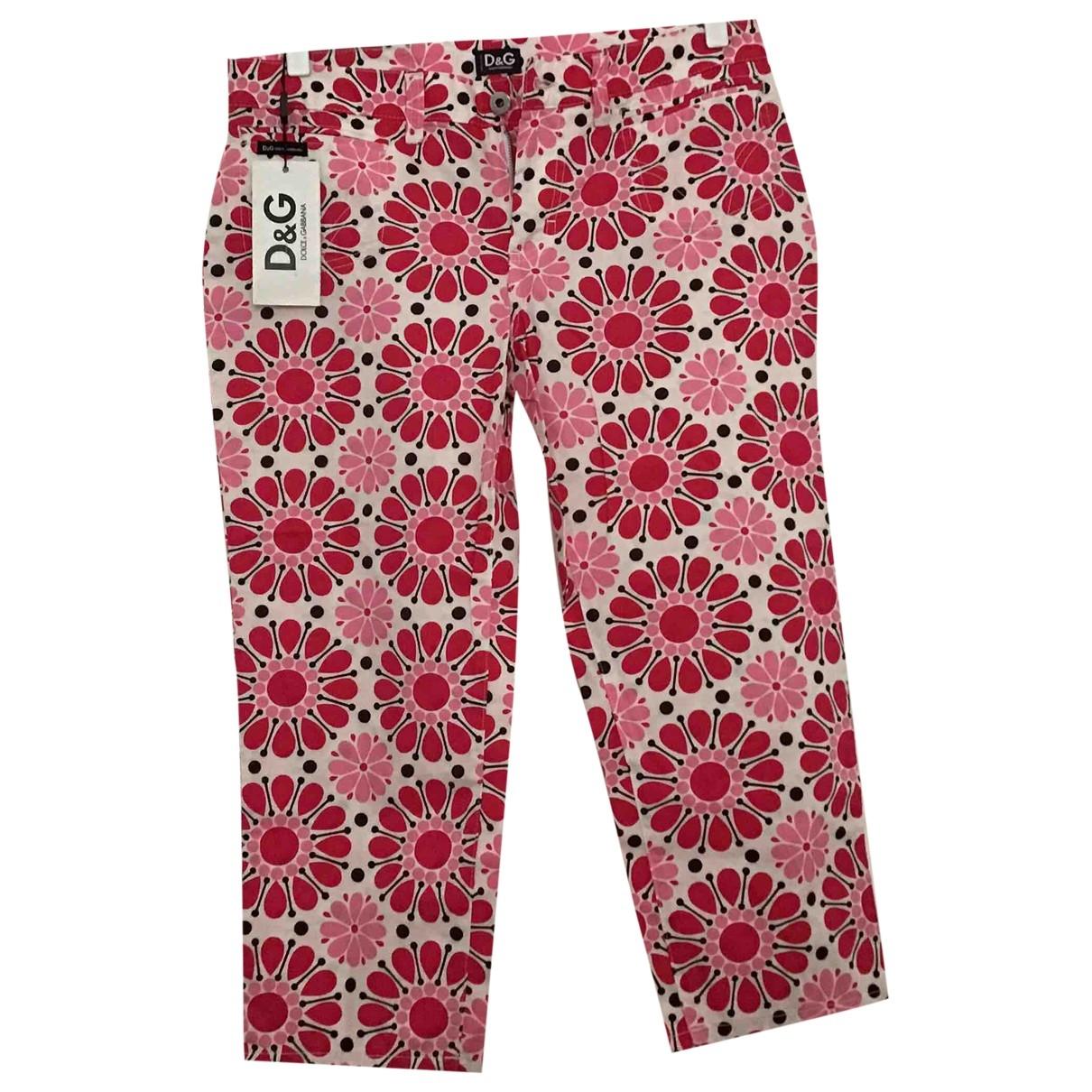 D&g \N Multicolour Cotton Trousers for Women 44 IT