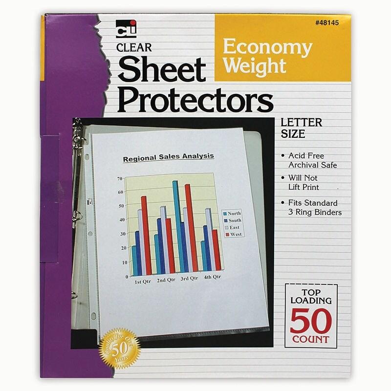 Charles leonard (5 bx) top loading sheet protectors 48145bn