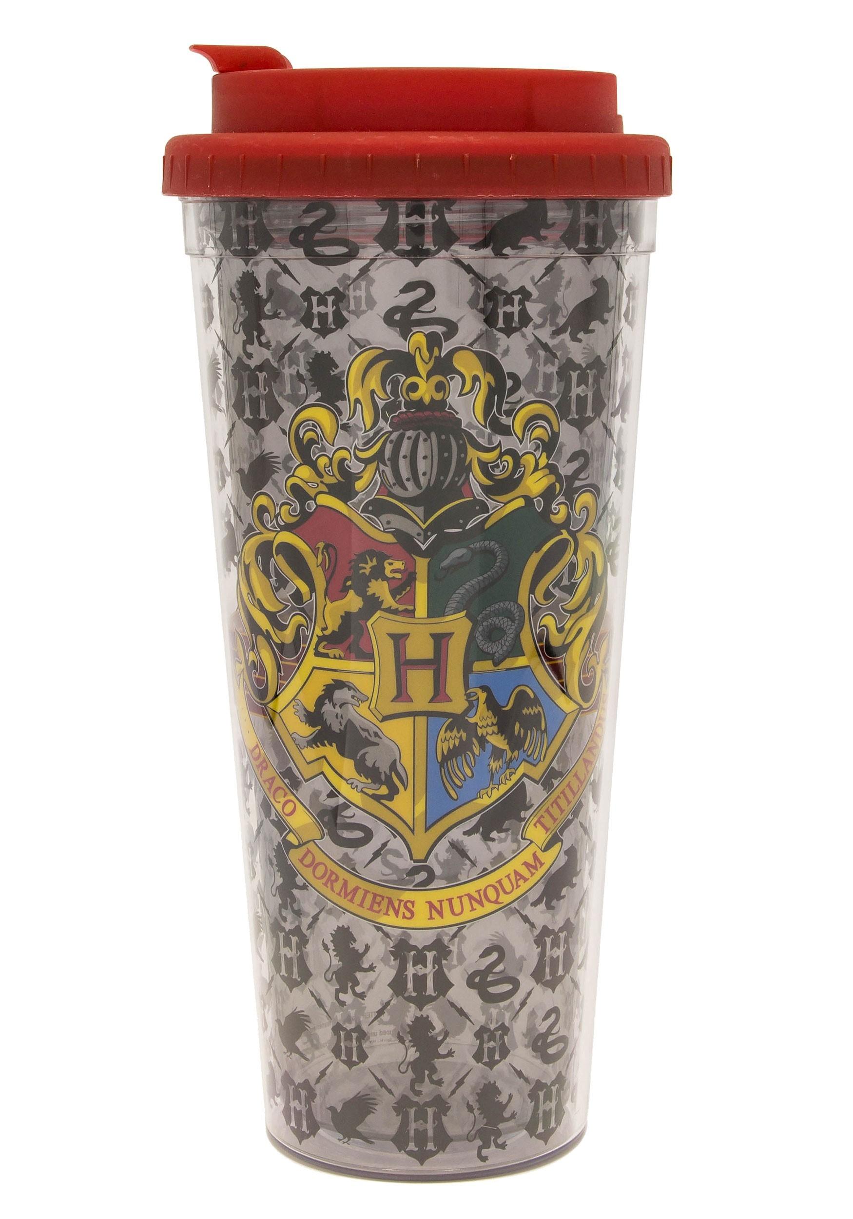 24oz Harry Potter Crest Plastic Travel Mug