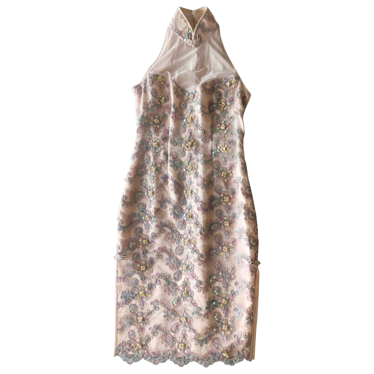 Non Signé / Unsigned \N Pink Silk dress for Women 8 UK