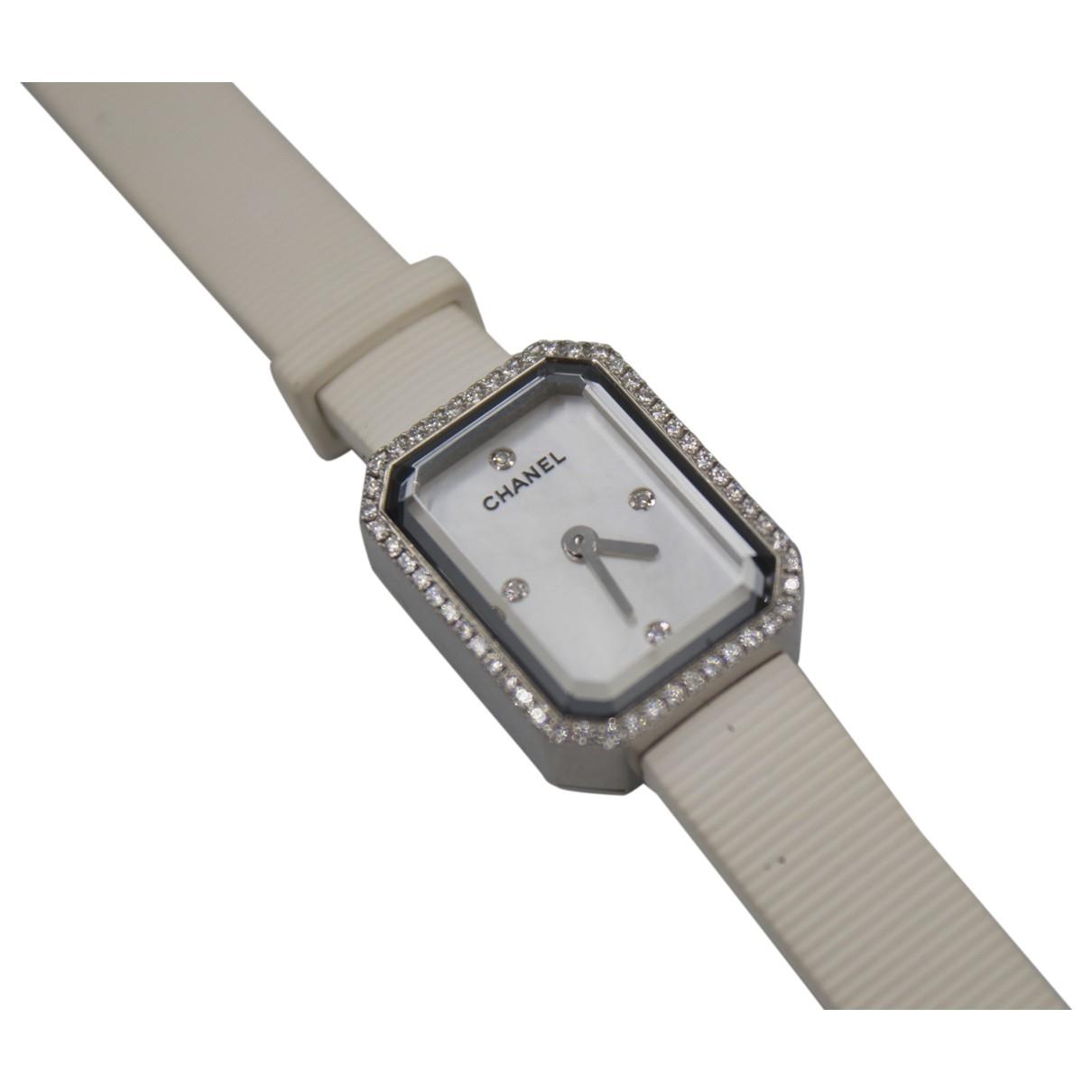Chanel Boy-Friend Uhr in  Weiss Stahl