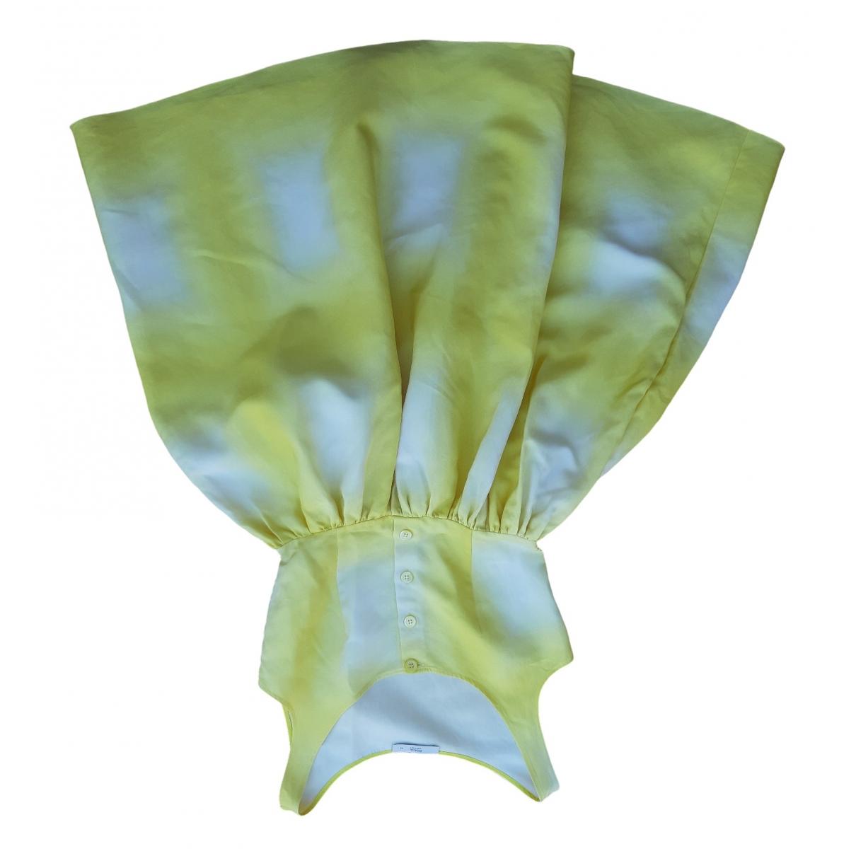 Prada \N Kleid in  Gelb Baumwolle