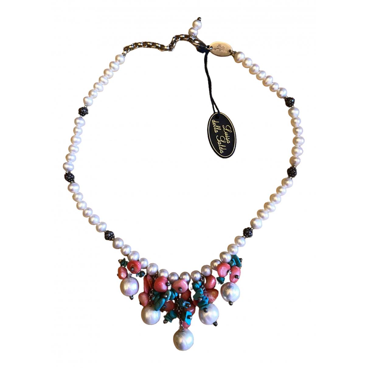 - Collier Motifs Ethniques pour femme en perle - rouge