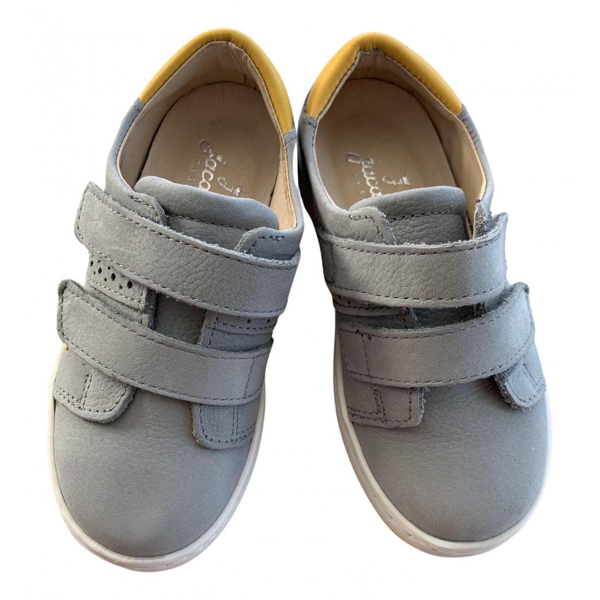 Jacadi - Baskets   pour enfant en cuir - gris