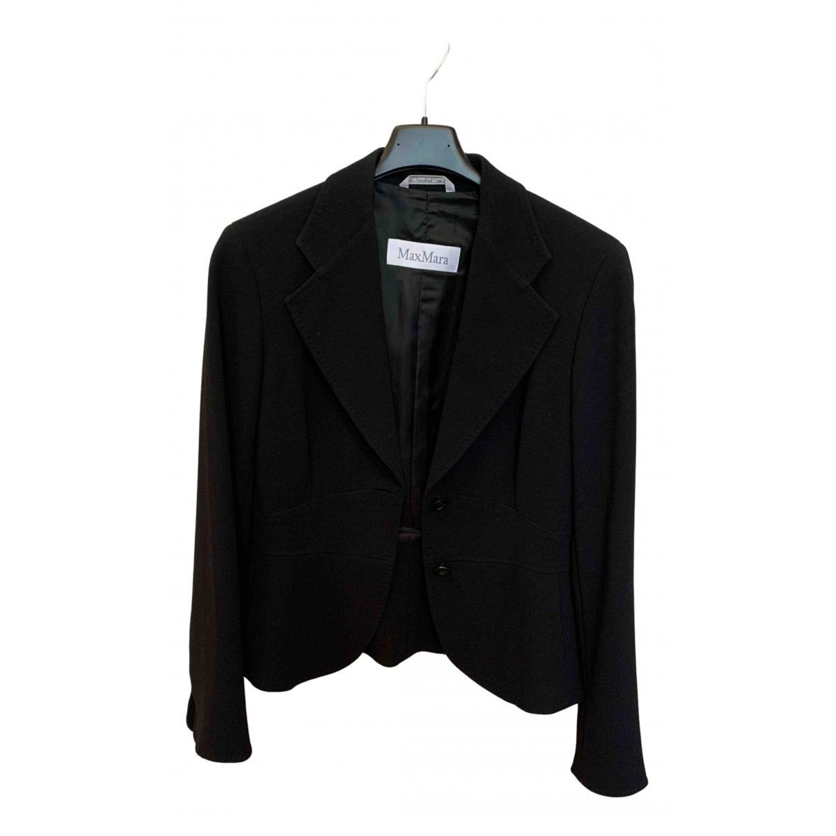 Max Mara \N Black Cotton jacket for Women 38 FR