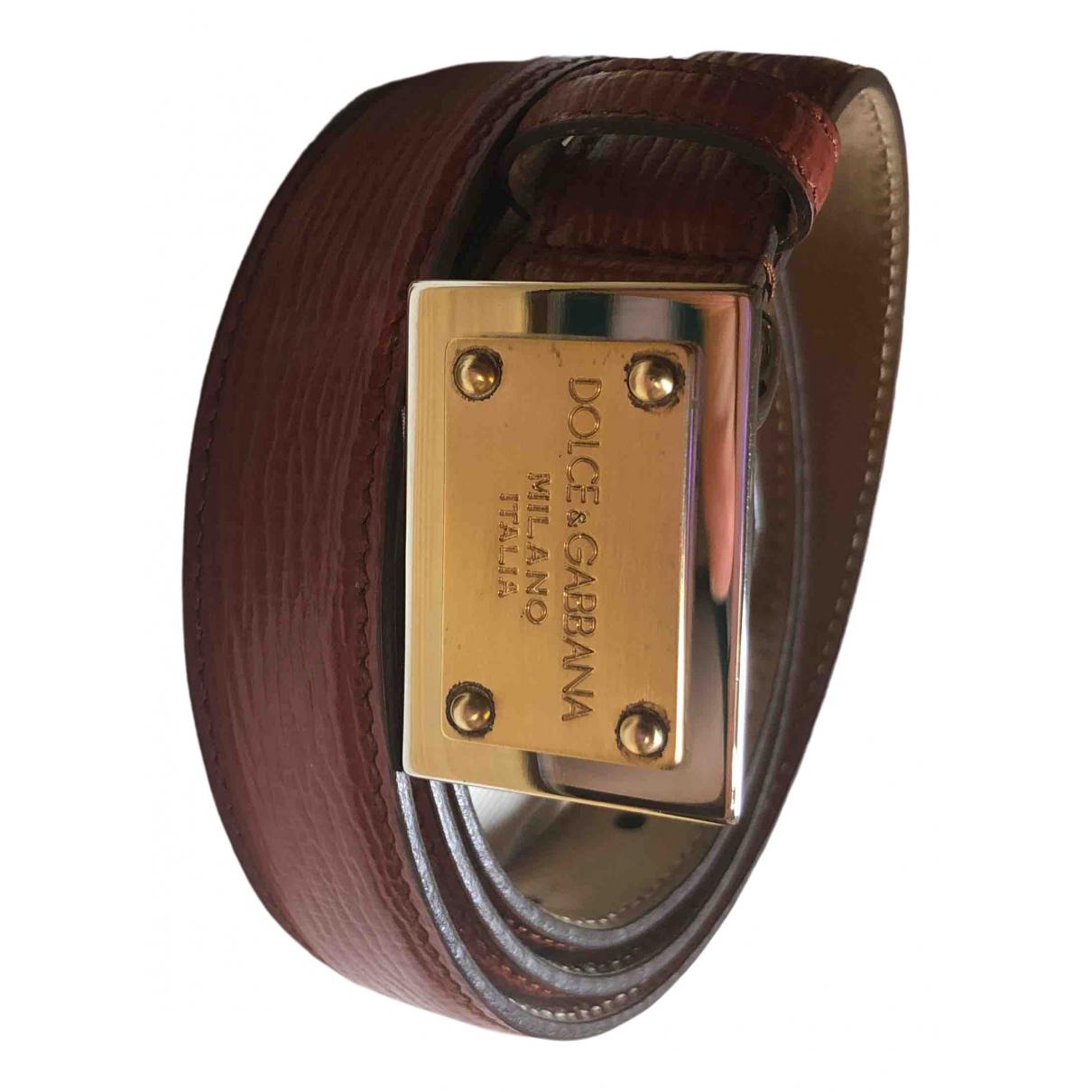 Dolce & Gabbana \N Burgundy Leather belt for Women XS International
