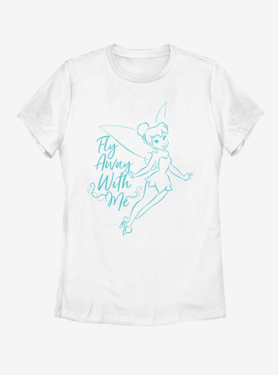 Disney Tinker Bell Fly Away With Me Womens T-Shirt