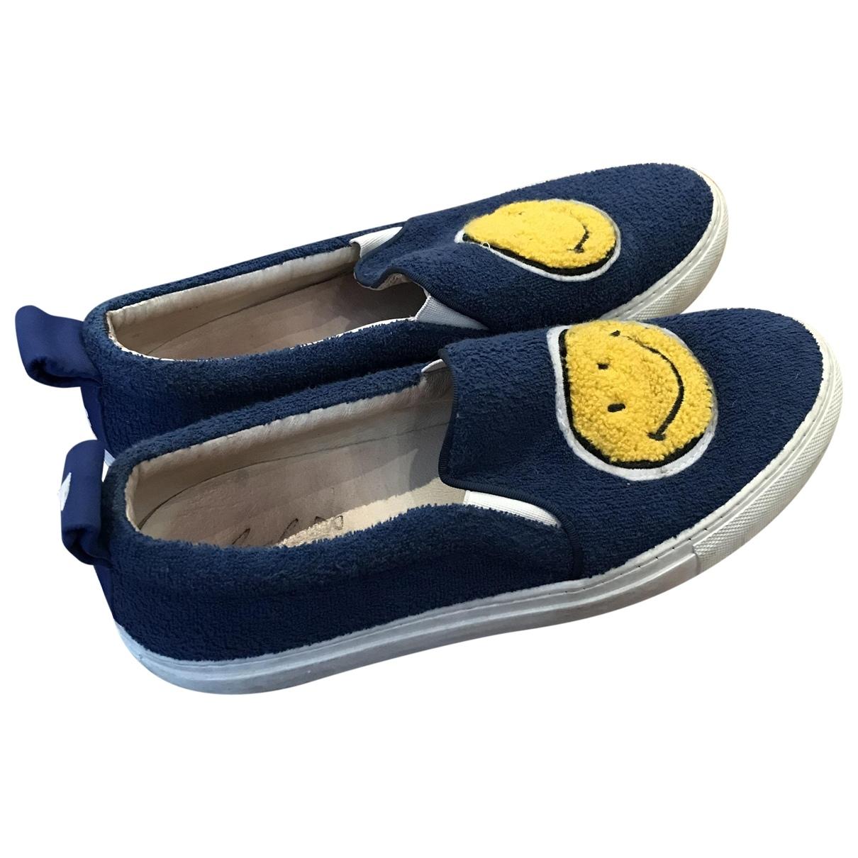 Joshua Sanders \N Sneakers in  Blau Leinen