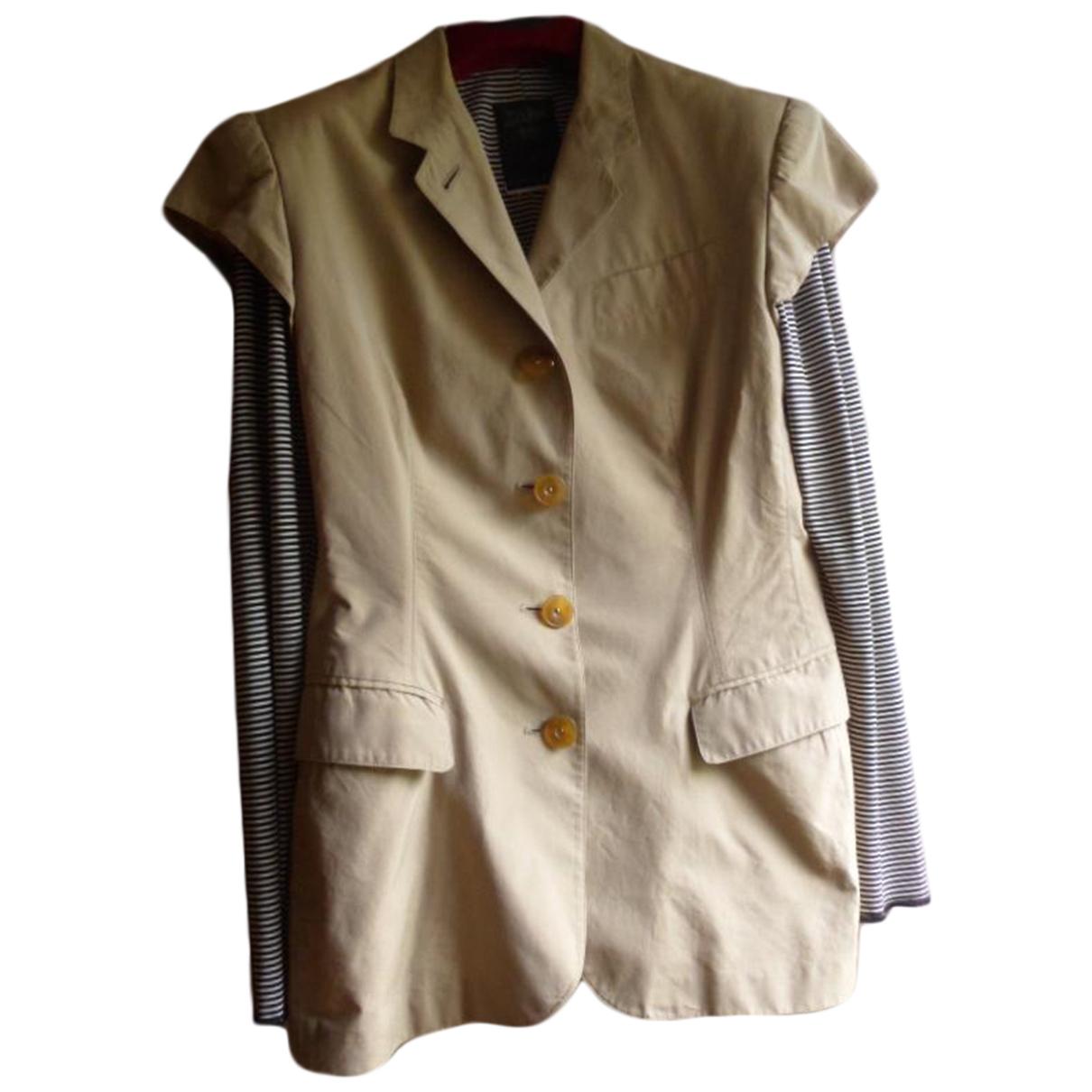 Jean Paul Gaultier \N Beige Cotton jacket for Women 38 FR