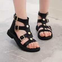 Maedchen Sandalen mit Schnalle und Riemen