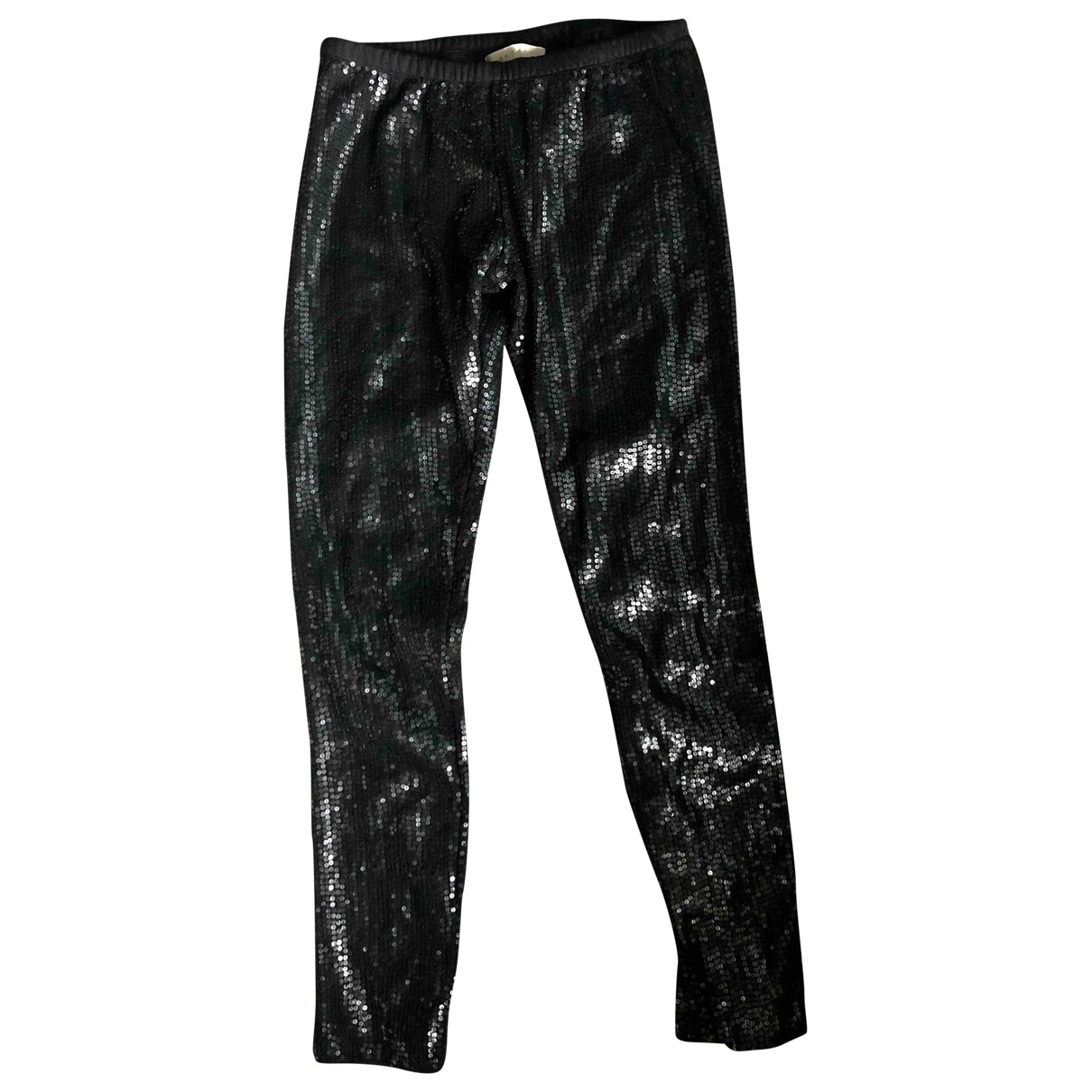 Maje \N Anthracite Cotton Trousers for Women 36 FR