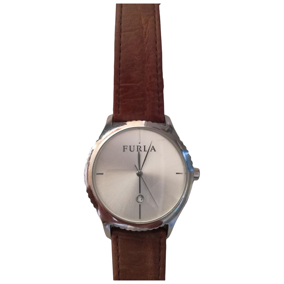 Furla \N Uhr in  Braun Stahl