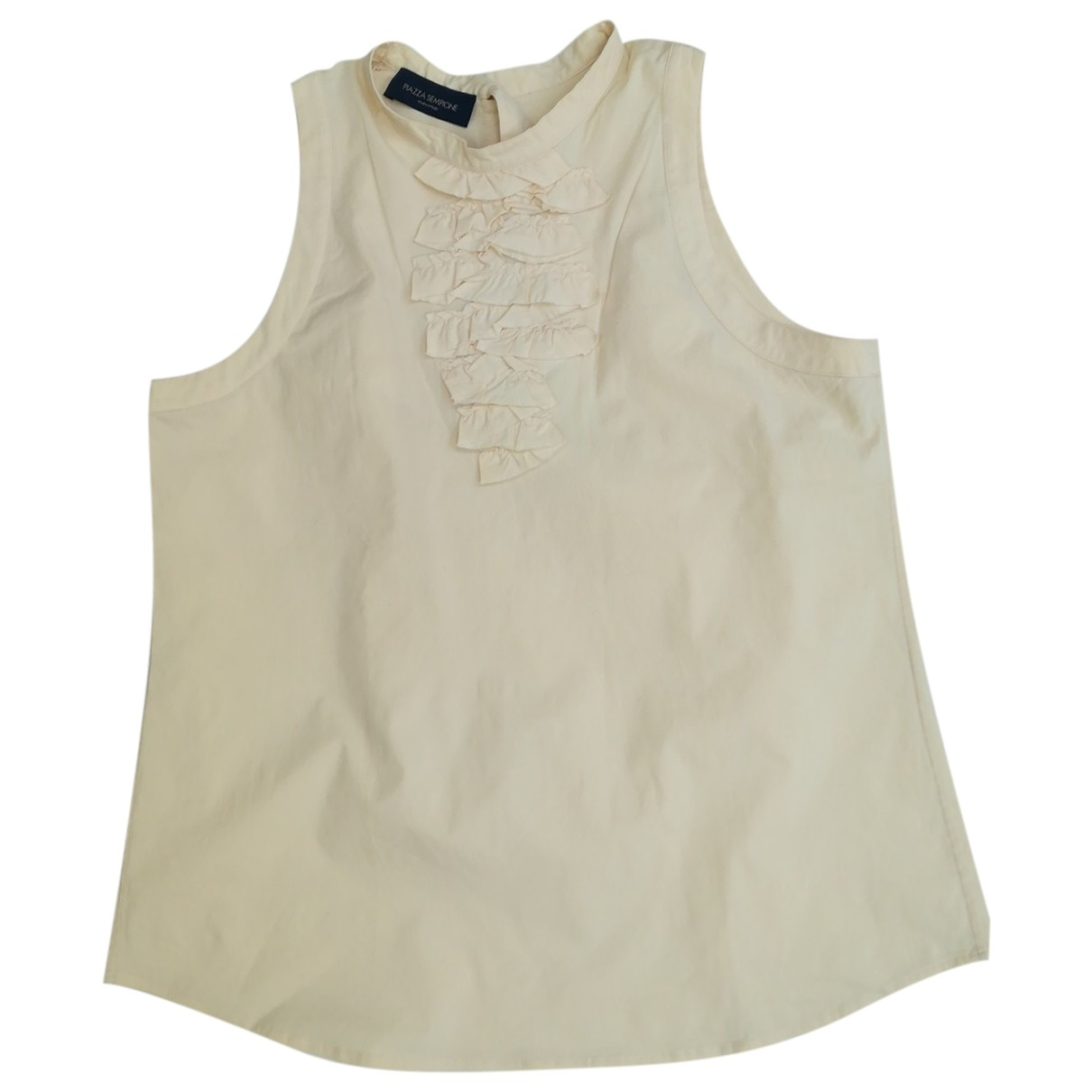 Non Signé / Unsigned \N Yellow Cotton  top for Women 38 FR