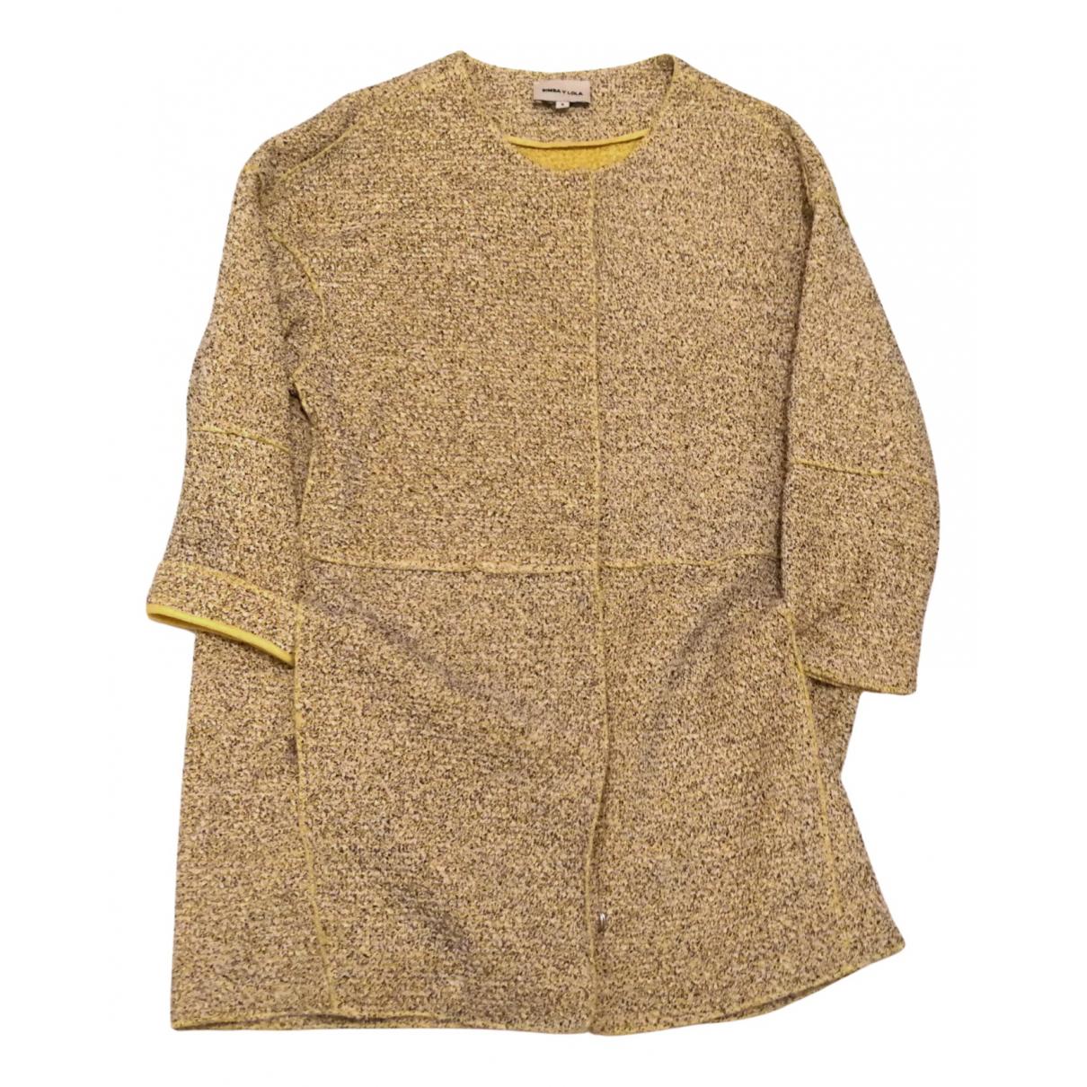 Bimba Y Lola \N Yellow Cotton coat for Women S International