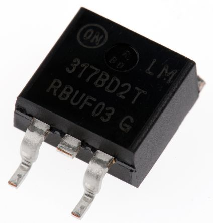 ON Semiconductor , 1.2 → 37 V Linear Voltage Regulator, 1.5A, 1-Channel, Adjustable 3-Pin, D2PAK LM317BD2TG (50)