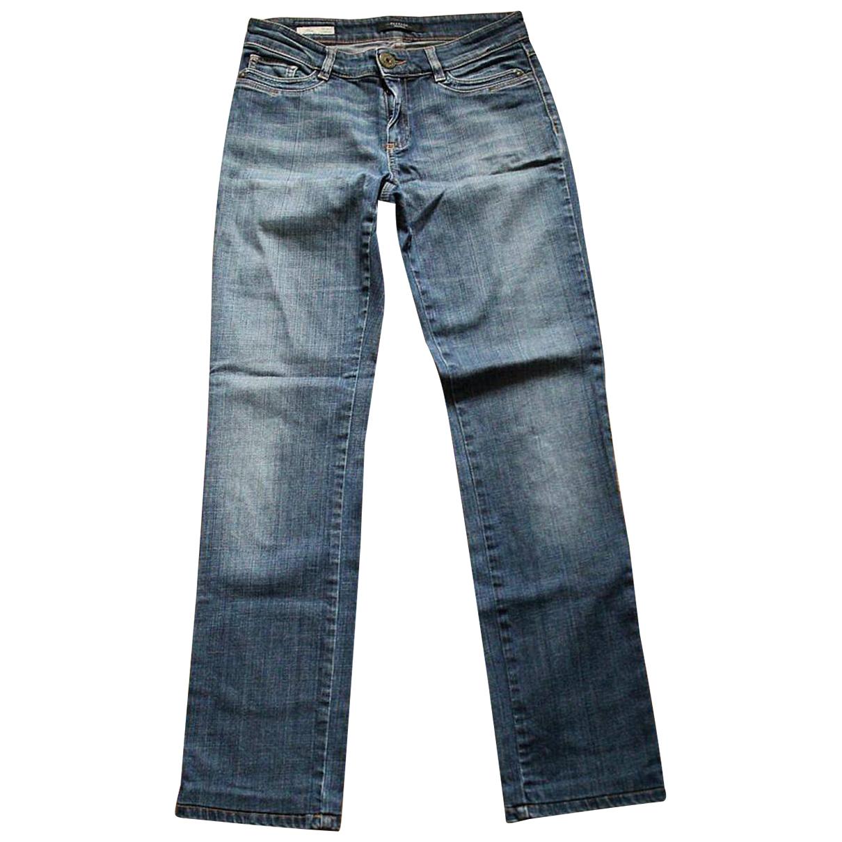 Max Mara Weekend \N Blue Cotton Jeans for Women 36 FR