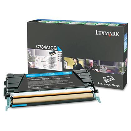 Lexmark C734A1CG cartouche de toner du programme retour originale cyan