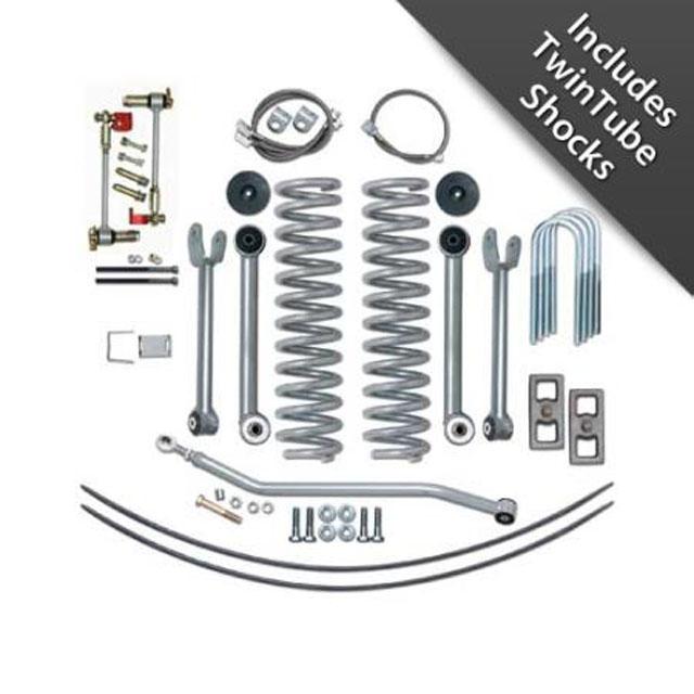 XJ Lift Kit 4.5 Inch Super Flex Rear Add A Leaf W/Twin Tube Shocks 84-01 Cherokee XJ Rubicon Express RE6111T