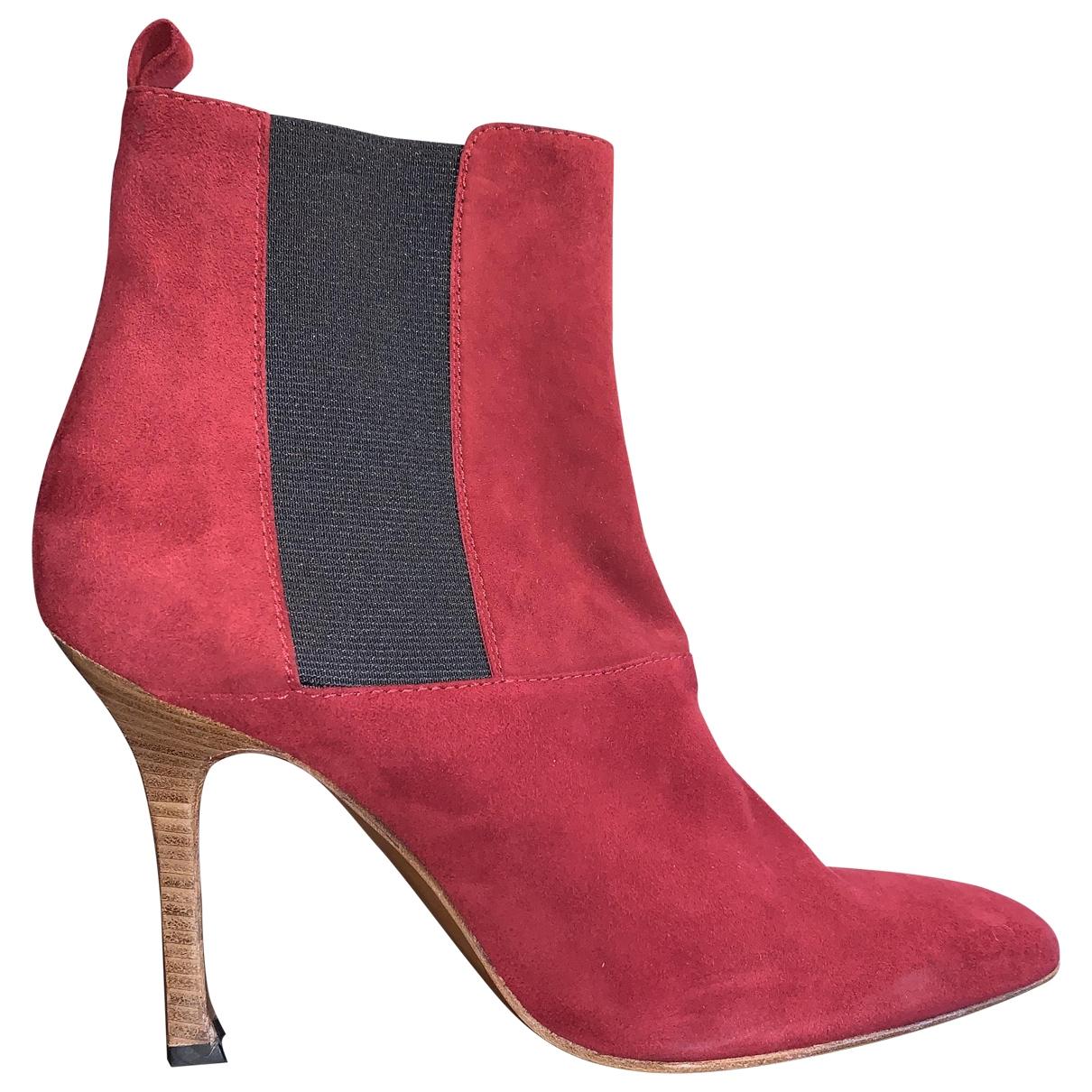 Dolce & Gabbana - Boots   pour femme en suede - rouge