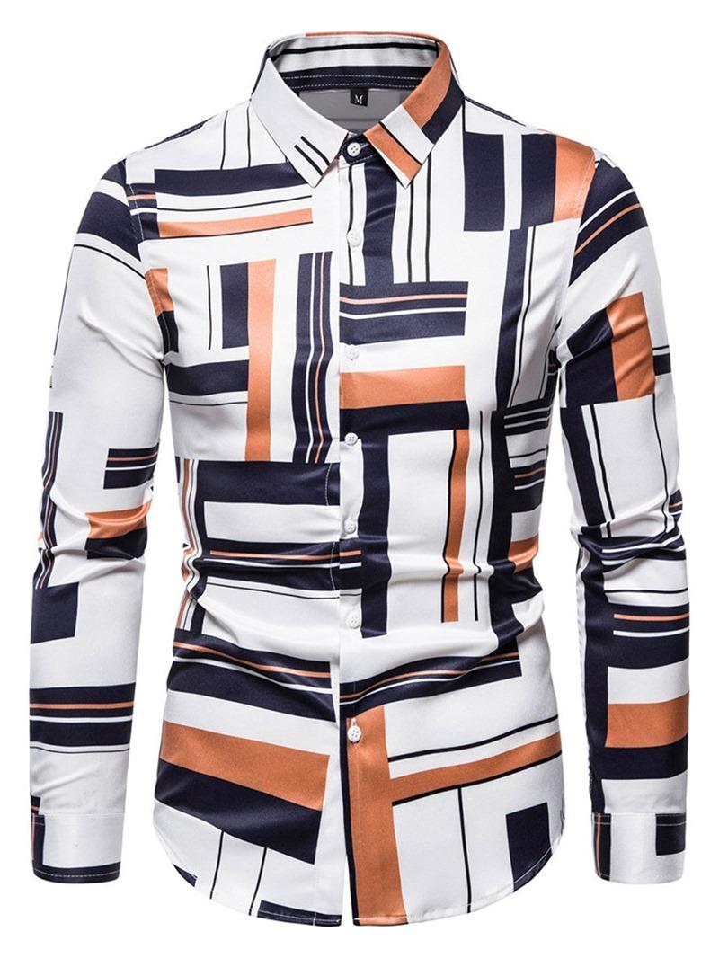 Ericdress Lapel Floral Casual Slim Shirt