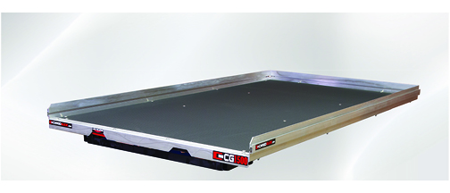 Slide Out Truck Bed Tray 1500 lb capacity 75% Extension 6 Bearings  Alum Tie-Down Rails Plywood Deck Fits Tahoe