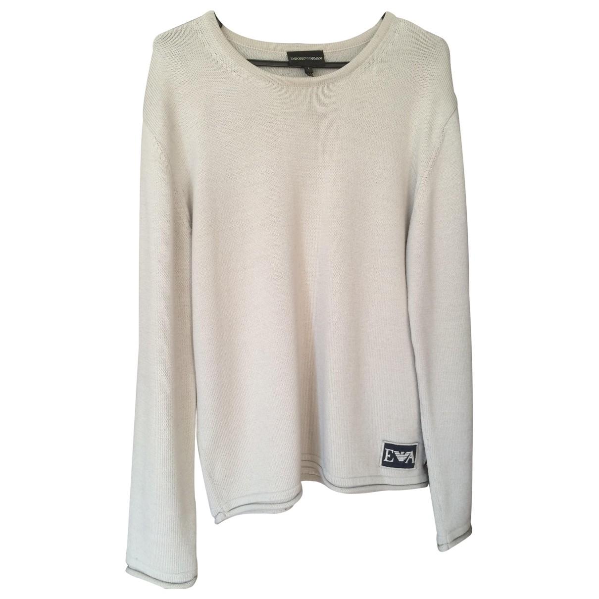 Emporio Armani - Manteau   pour homme en laine - beige